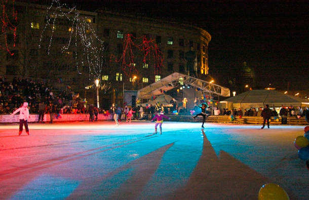 Belgrade tour, outdoor ice skating