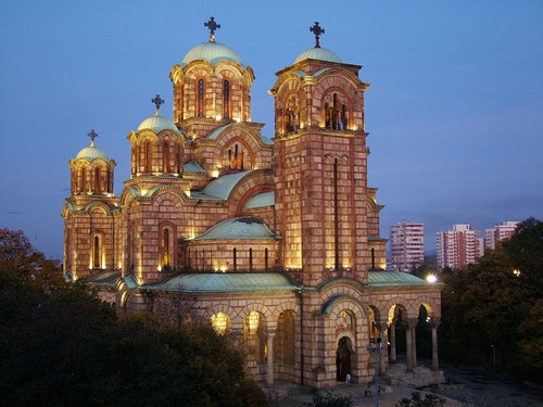 Belgrade tour, St.Mark's church